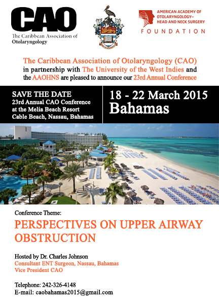 Save The Date - CAO Conference 2015